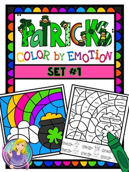 Color-By-Emotion (St. Patrick's Themed): Set #1