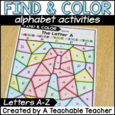 Color By Letter - Alphabet Activities