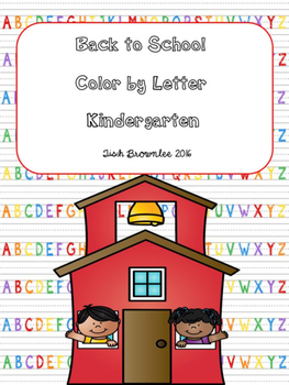 Color By Letter Back to School