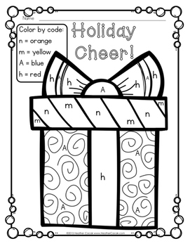 Color By Letter Decoding Activity {CHRISTMAS}