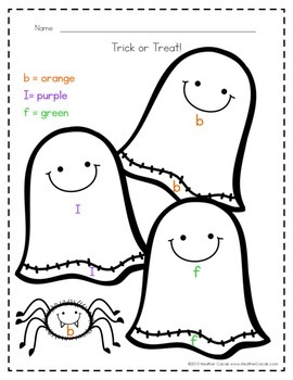 Color By Letter Decoding Activity {HALLOWEEN}