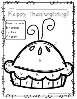 Color By Letter Decoding Activity {THANKSGIVING}