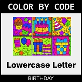 Color By Letter (Lowercase) - Birthday