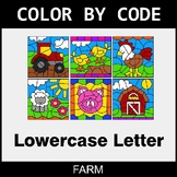 Color By Letter (Lowercase) - Farm