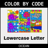 Color By Letter (Lowercase) - Ocean