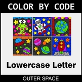 Color By Letter (Lowercase) - Outer Space