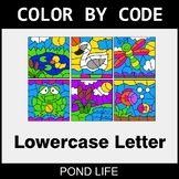 Color By Letter (Lowercase) - Pond Life