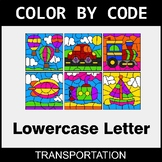 Color By Letter (Lowercase) - Transportation