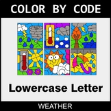 Color By Letter (Lowercase) - Weather