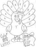 Color By Letter- Thanksgiving turkey