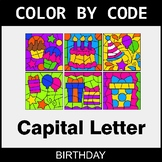 Color By Letter (Uppercase) - Birthday