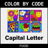 Color By Letter (Uppercase) - Food