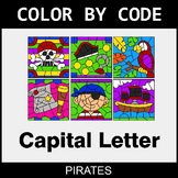 Color By Letter (Uppercase) - Pirates