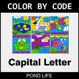 Color By Letter (Uppercase) - Pond Life