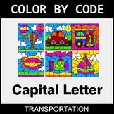 Color By Letter (Uppercase) - Transportation