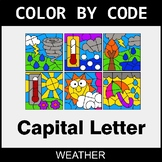 Color By Letter (Uppercase) - Weather