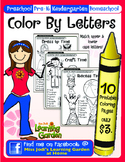 Color By Letters Coloring Pages  10 Pack