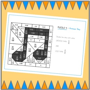 Color By Math - fractions and decimals BUNDLE