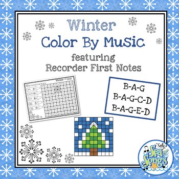 Color By Music Winter - Recorder Notes - BAG - BAGCD - BAGED