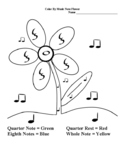Color By Music Note - Simple Flower