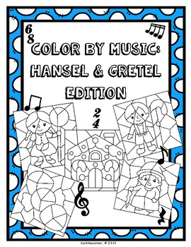 Color By Music: Nursery Rhyme/Fairy Tale Collection - Hansel & Gretel