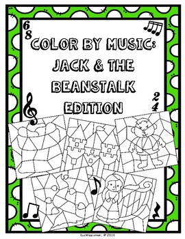 Color By Music: Nursery Rhyme/Fairy Tale Collection - Jack & Beanstalk
