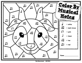 Color By Music: Nursery Rhyme/Fairy Tale Collection - Three Billy Goats Gruff