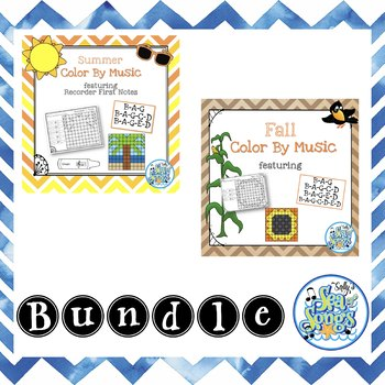 Color By Music - Recorder First Notes - Bundle