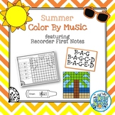 Color By Music Summer - Recorder Notes - BAG - BAGCD - BAGED