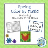 Color By Music Spring - Recorder Notes - BAG - BAGCD - BAGED