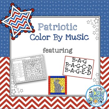 Color By Music Patriotic - Recorder Notes - BAG - BAGCD - BAGED