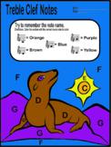 Color By Music- Treble Clef Notes C Through G (Sea Lion) m