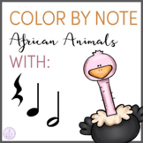 Color By Note African Animals