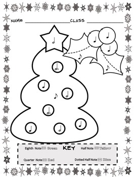 Music Coloring Sheets (Christmas Color By Note)