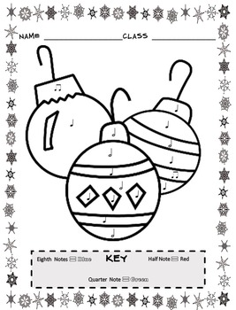 music coloring sheets christmas color by note by emily conroy tpt. Black Bedroom Furniture Sets. Home Design Ideas