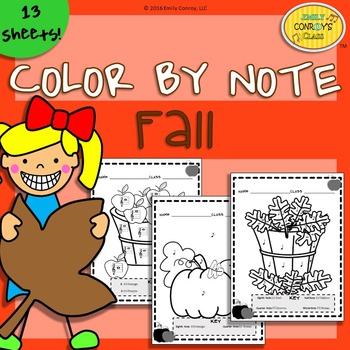 Music Coloring Sheets (Color By Note Fall)
