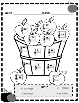 Music Coloring Sheets (Color By Note Fall) by Emily Conroy | TpT