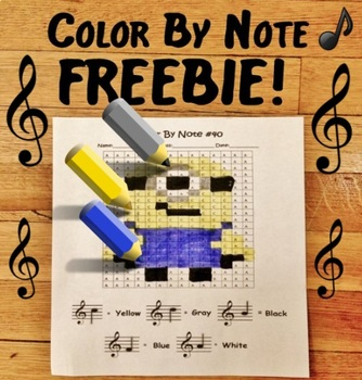 Color By Note - Minion FREEBIE!