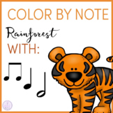 Color By Note Rainforest Animals