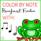 Color By Note Rainforest Animals Sample Freebie