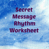 Winter Color By Rhythm Notes - Secret Message SLED