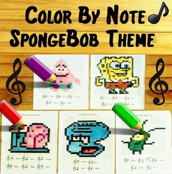 Color By Note - ~ Spongebob Theme ~