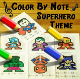 Color By Note ~ Superhero Theme ~