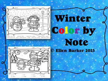Color By Note: Winter