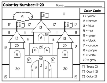 Color-By-Number 0-20