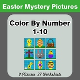 Easter Color By Number 1-10 | Easter Mystery Pictures