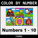 Color By Number 1-10 - Farm