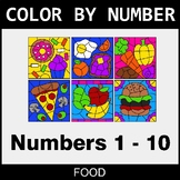 Color By Number 1-10 - Food