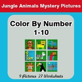 Color By Number 1-10 | Jungle Animals Mystery Pictures