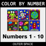Color By Number 1-10 - Outer Space